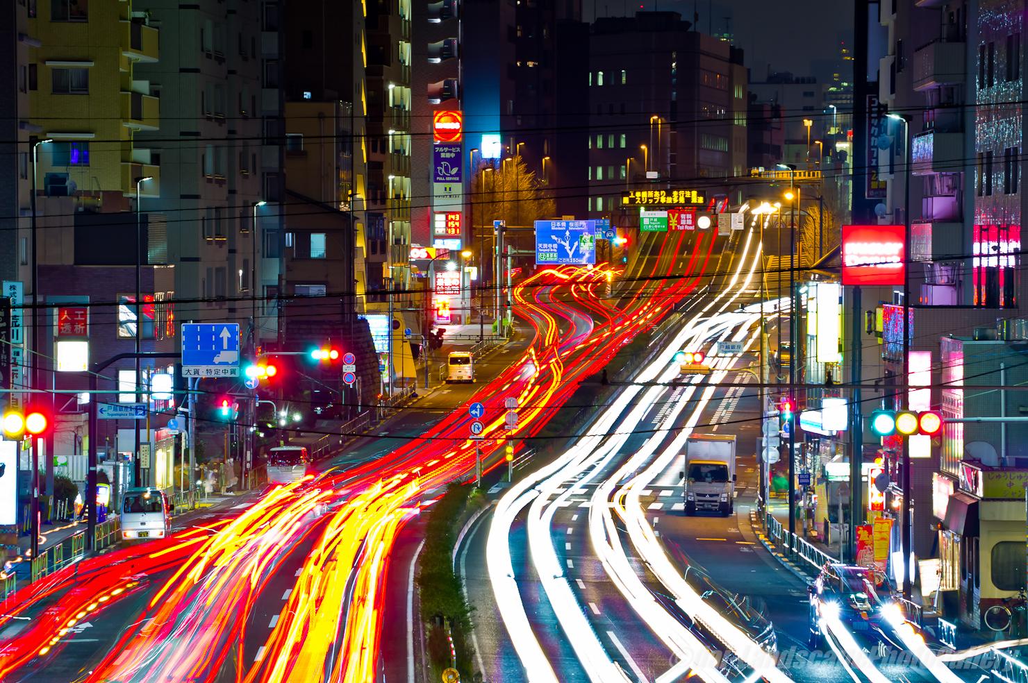 首都高 戸越出入口夜景