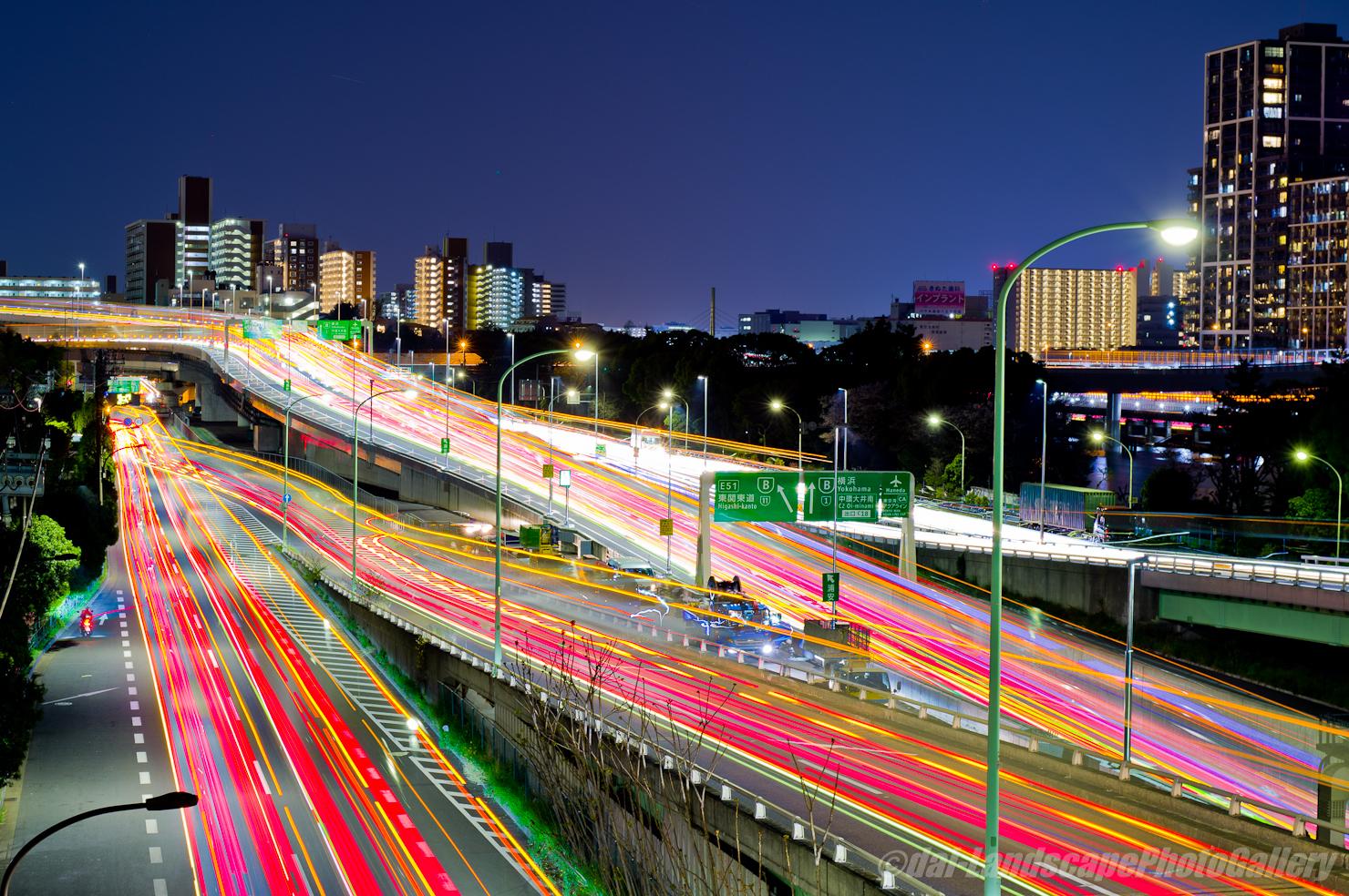 大井埠頭北部陸橋夜景