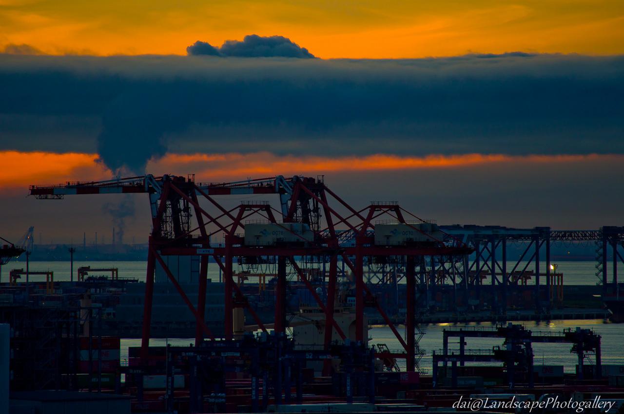 東京港の朝