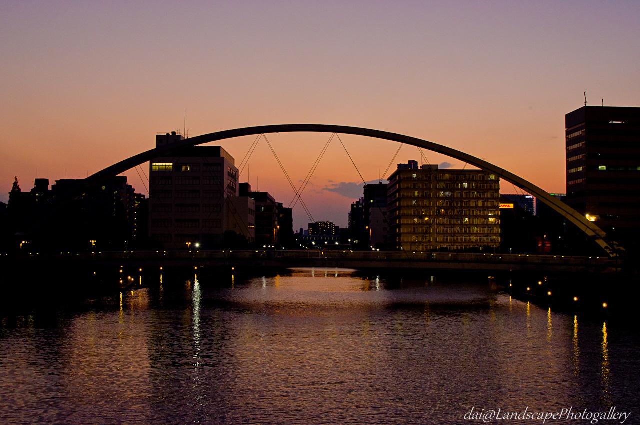 アイル橋夕景