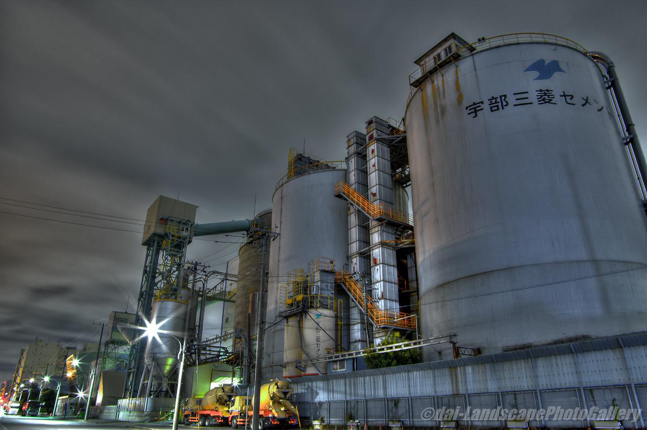 東京菱光コンクリート工場夜景【HDRi】