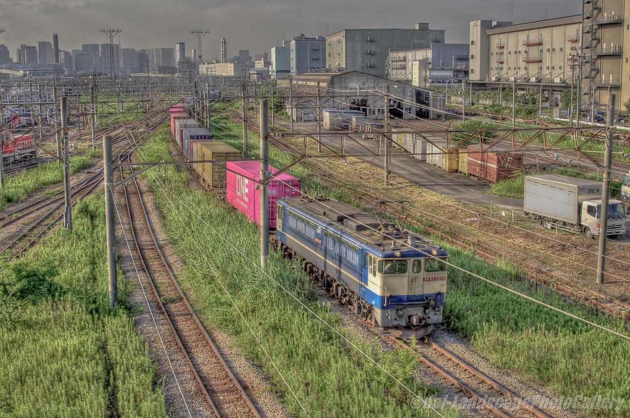 4073列車 東京貨物ターミナル駅発車風景【HDRi】