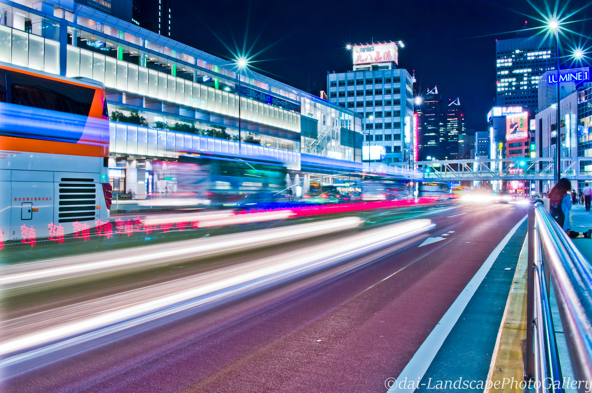 甲州街道 新宿駅南口夜景