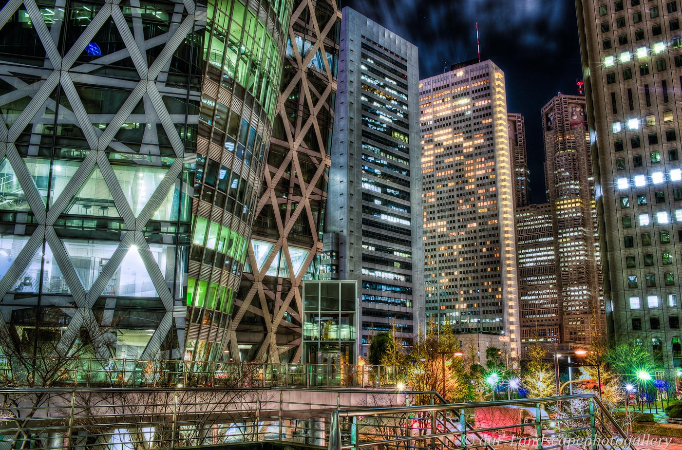 新宿夜景HDR