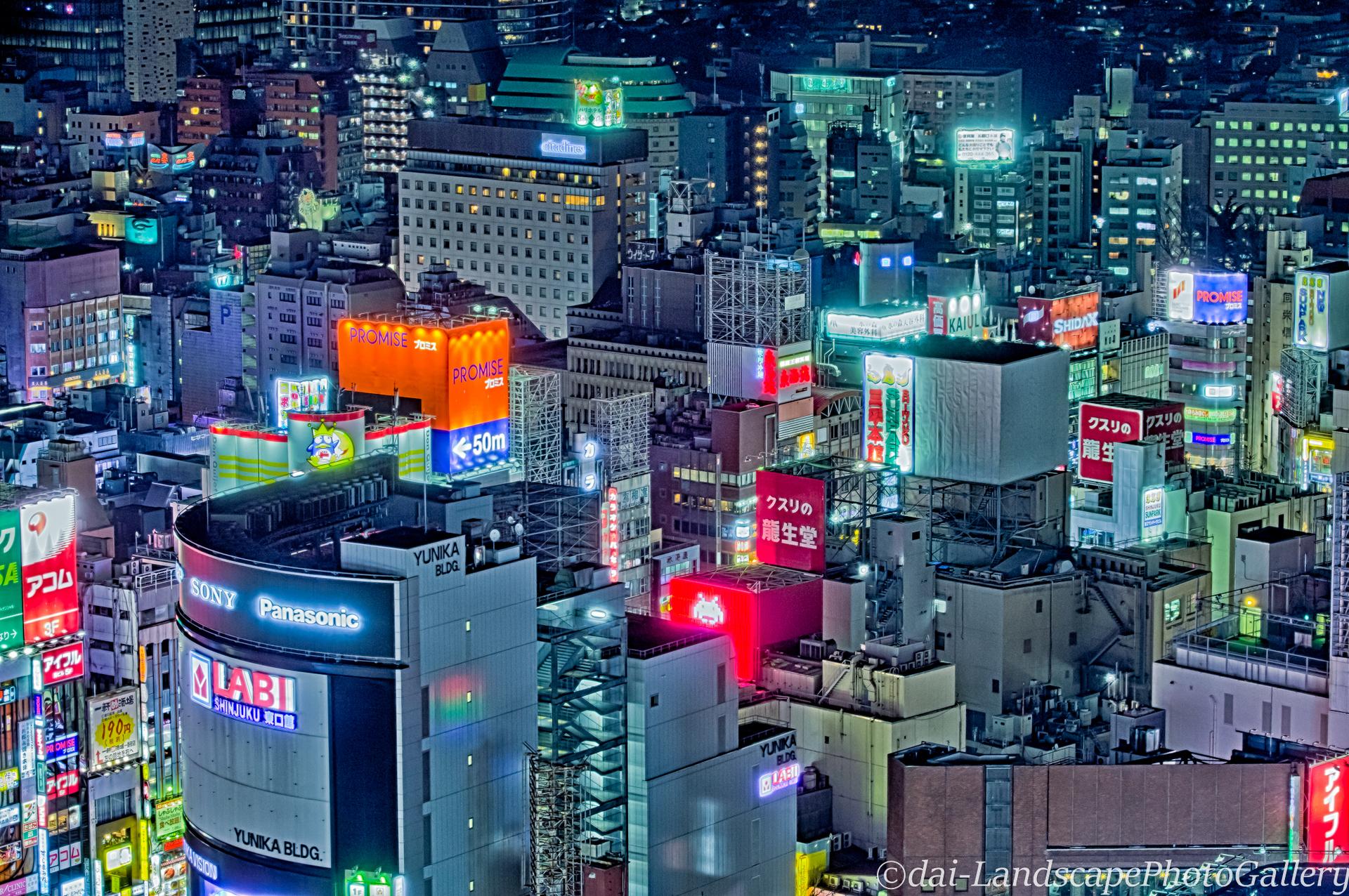 新宿夜景【HDRi】