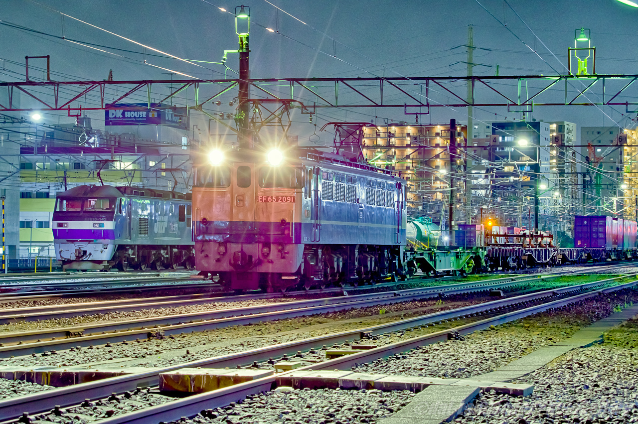 新小岩信号場駅夜景【HDRi】