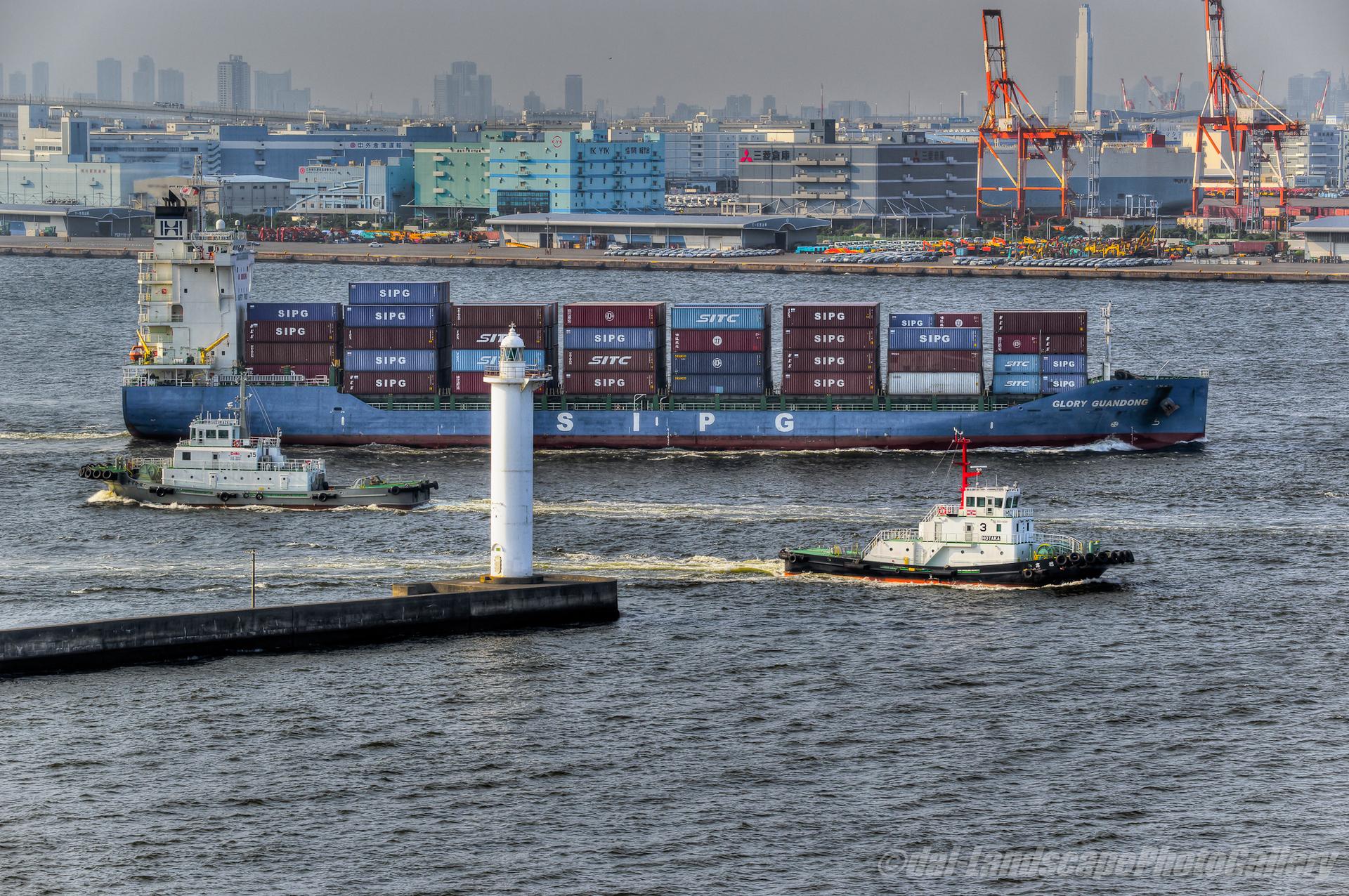 GLORY GUANDONG ~横浜港出航風景~【HDRi】