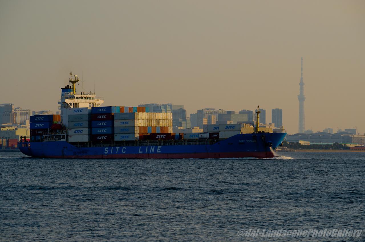 SITC BUSAN 東京港出航風景