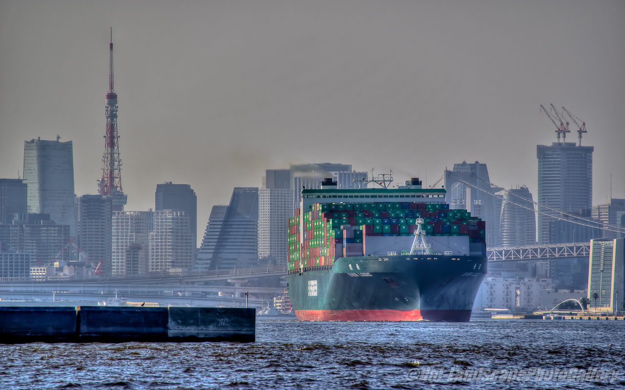 EVER LOGIC (長理) 東京港出航風景【HDRi】