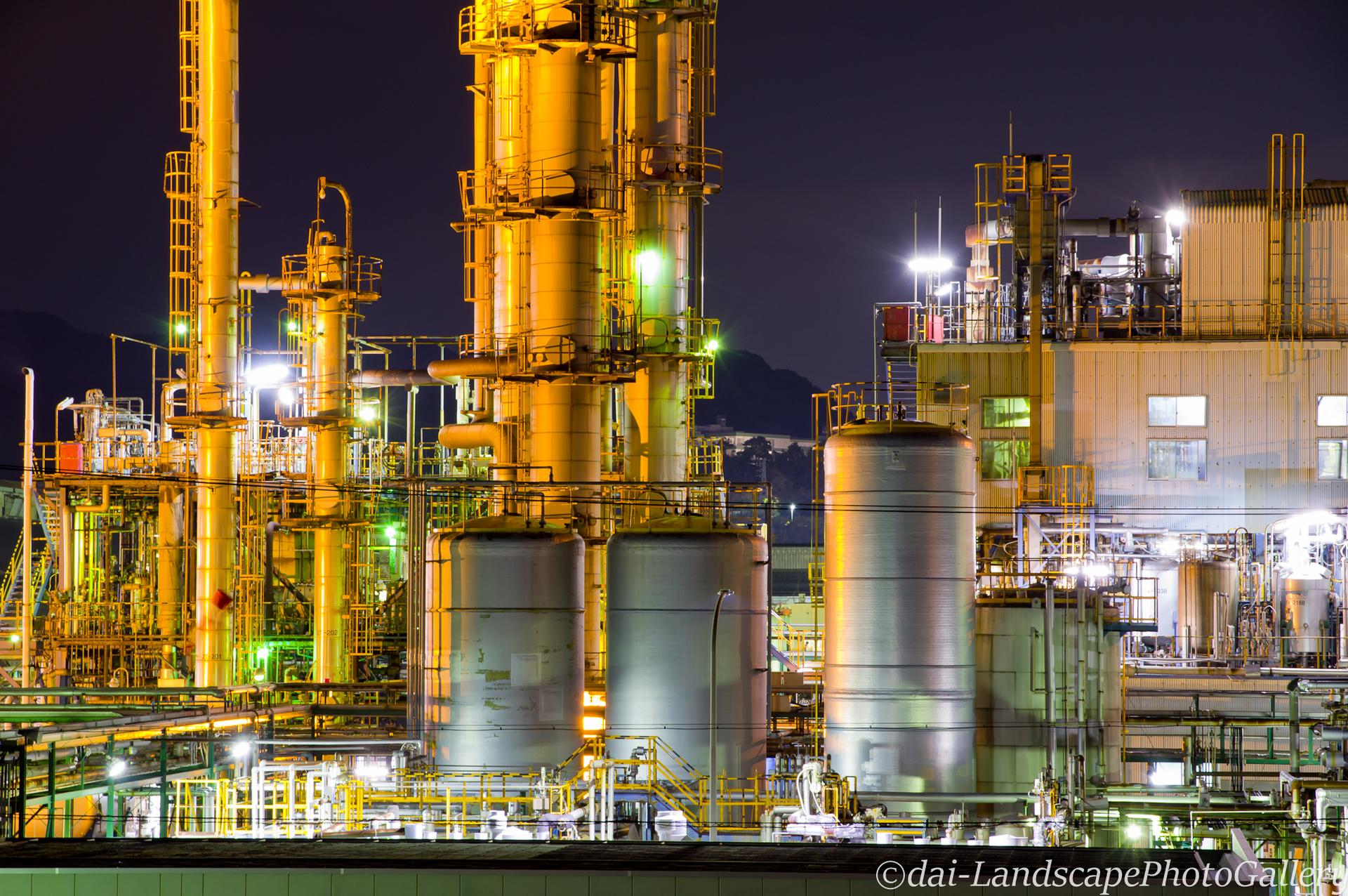 イハラニッケイ化学工場夜景