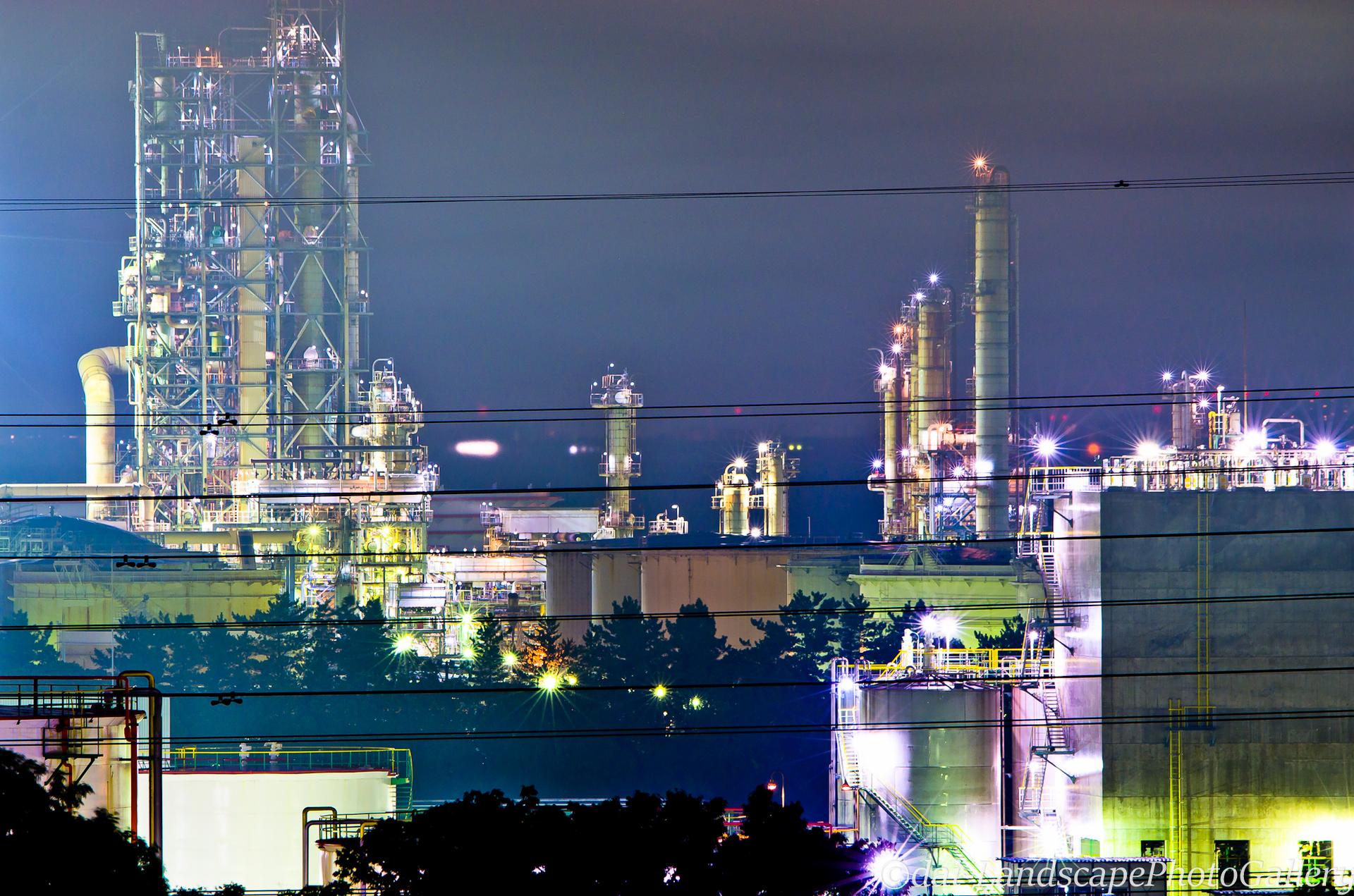 袖ヶ浦市工場夜景
