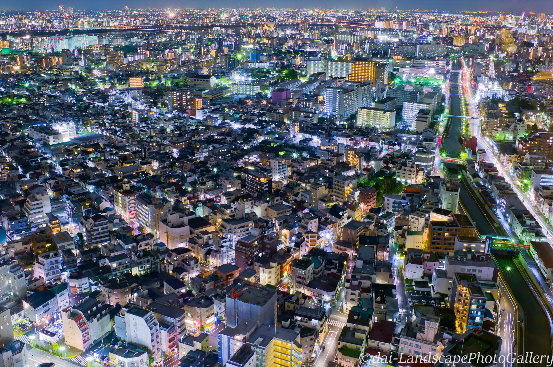 東京スカイツリーイーストタワーの夜景