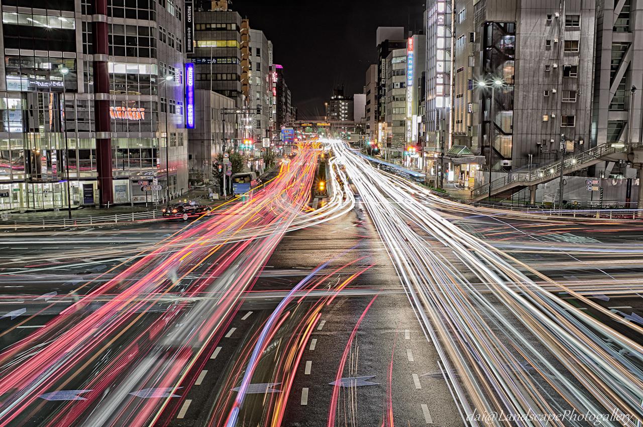 錦糸町駅前交差点夜景【HDRi】