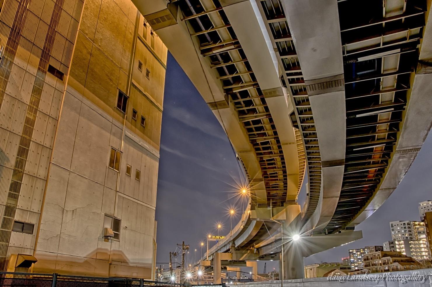 首都高向島線高架下夜景【HDRi】