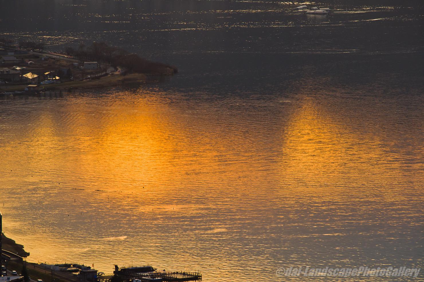 諏訪湖夕景
