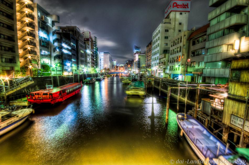 柳橋夜風景【HDRi】