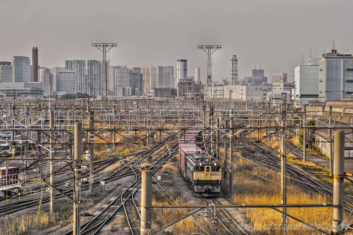 東京貨物ターミナル駅出発風景【HDRi】