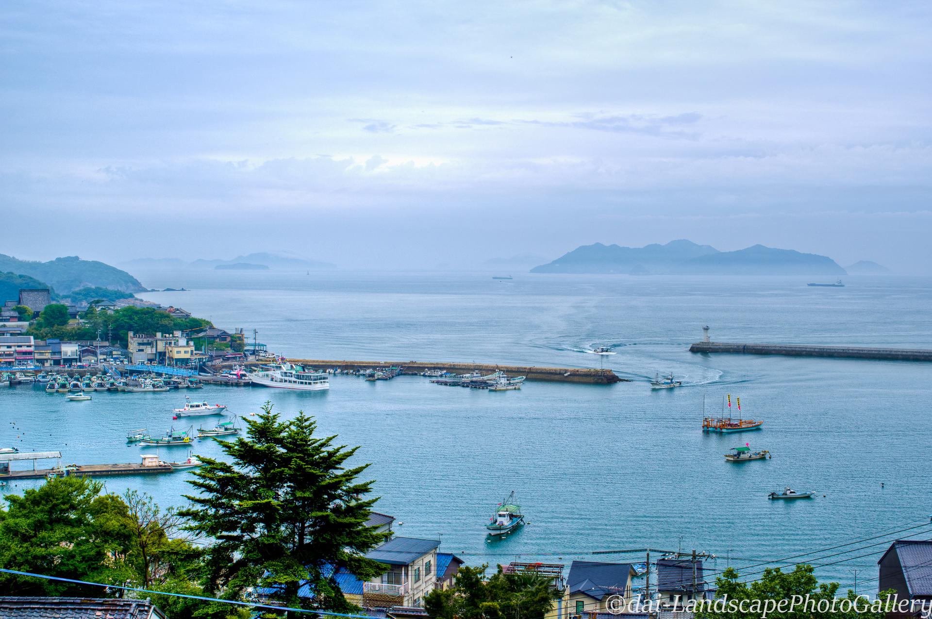 鞆の浦と曇り空の瀬戸内海【HDRi】