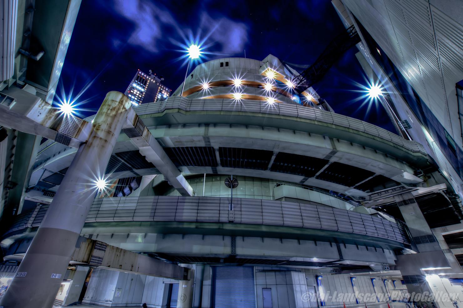 首都高東池袋インターとサンシャイン60夜景【HDRi】
