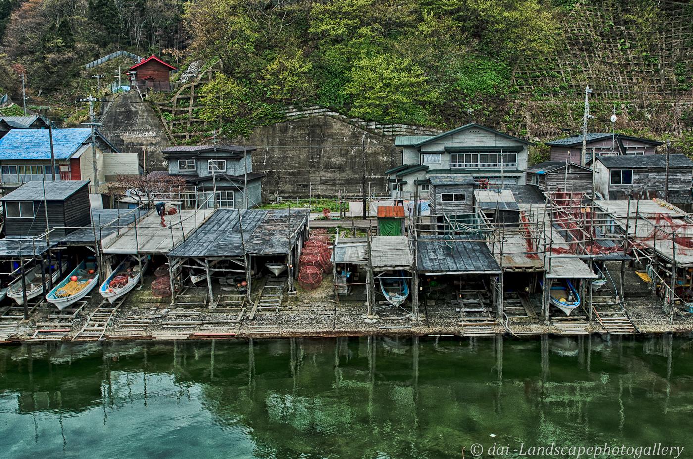 三厩梹榔の漁村風景【HDRi】