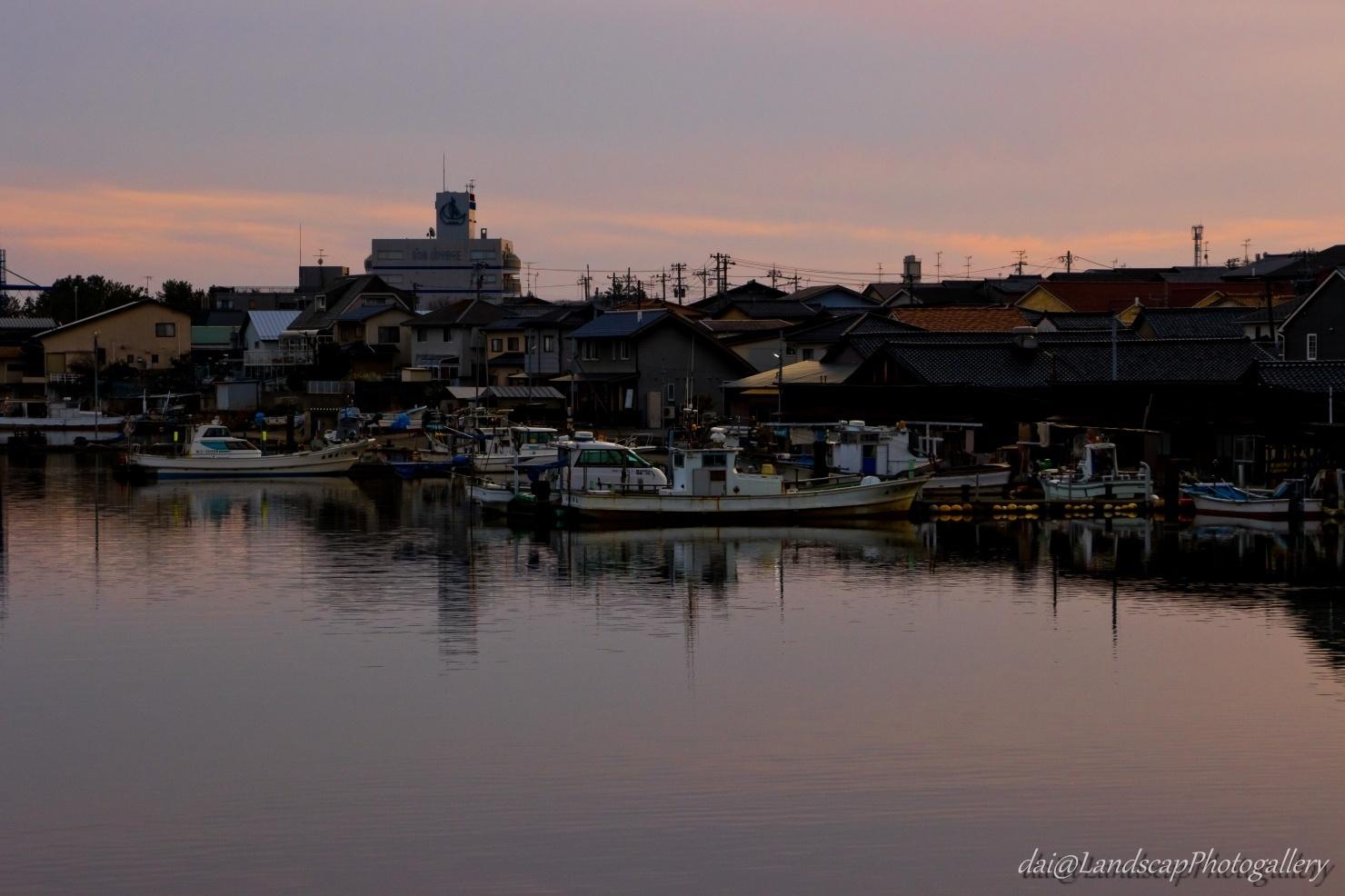 大野川夕景