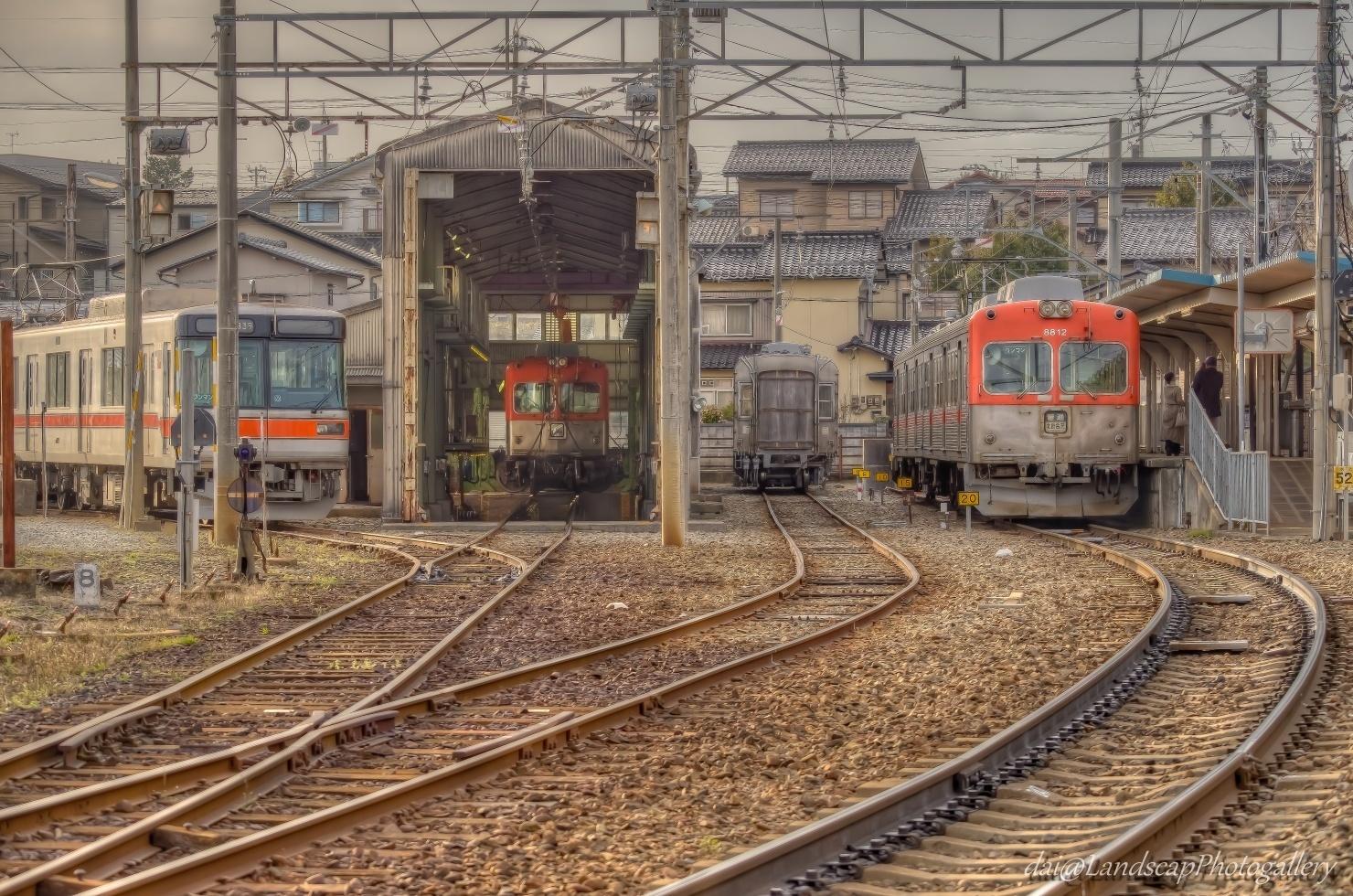 北陸鉄道浅野川線 内灘駅の風景【HDRi】