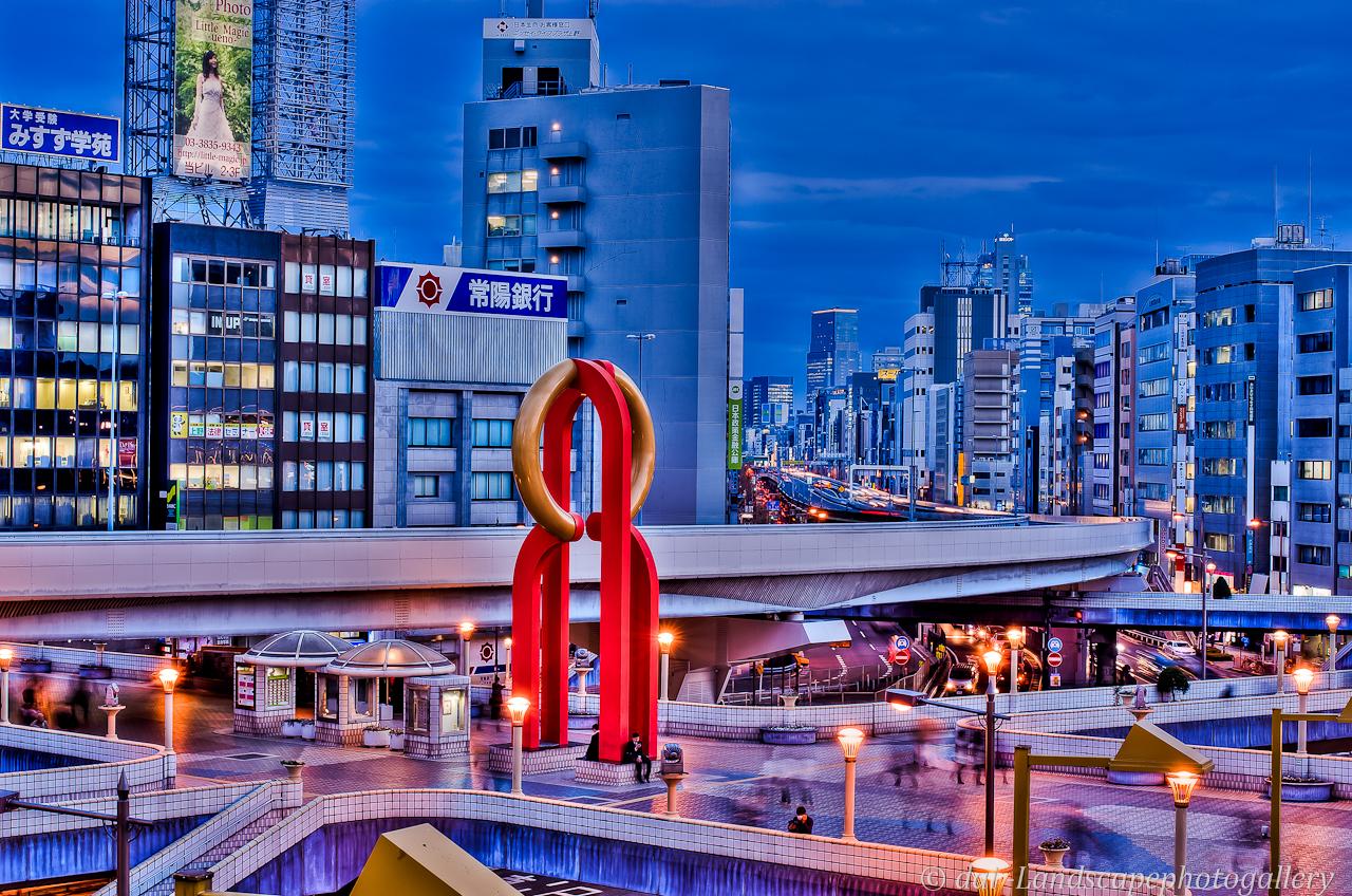 上野駅夜景【HDRi】