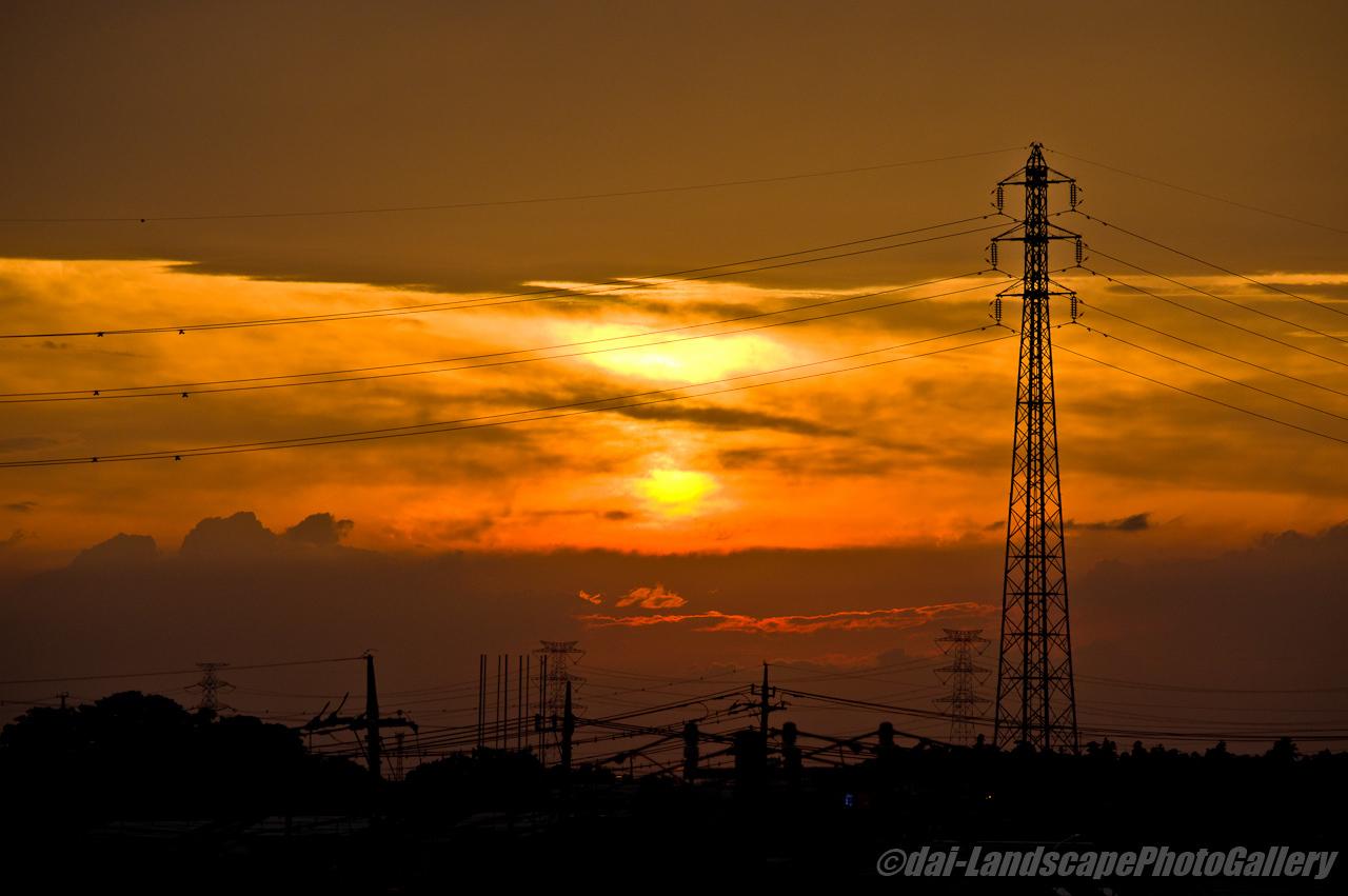 東鷲宮駅からの夕景