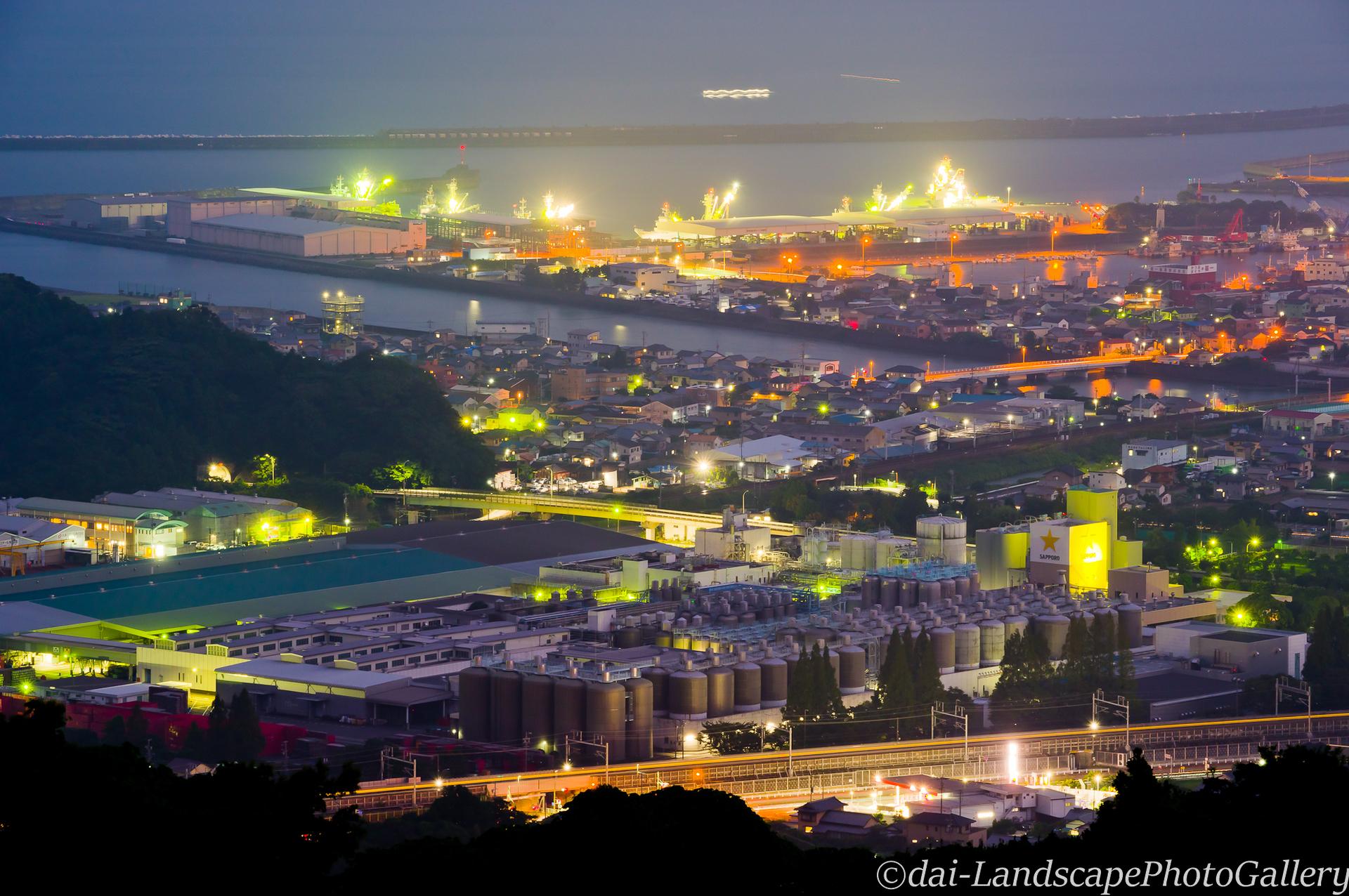 笛吹段公園からの夜景