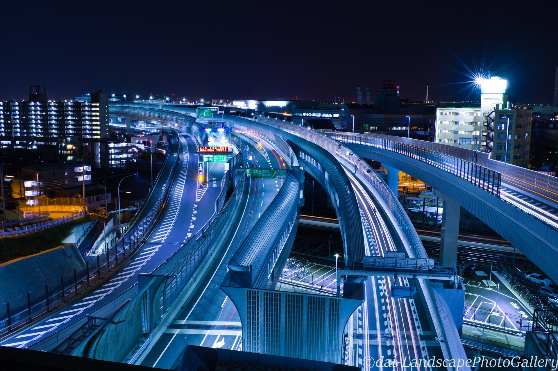 首都高速きたせん夜景