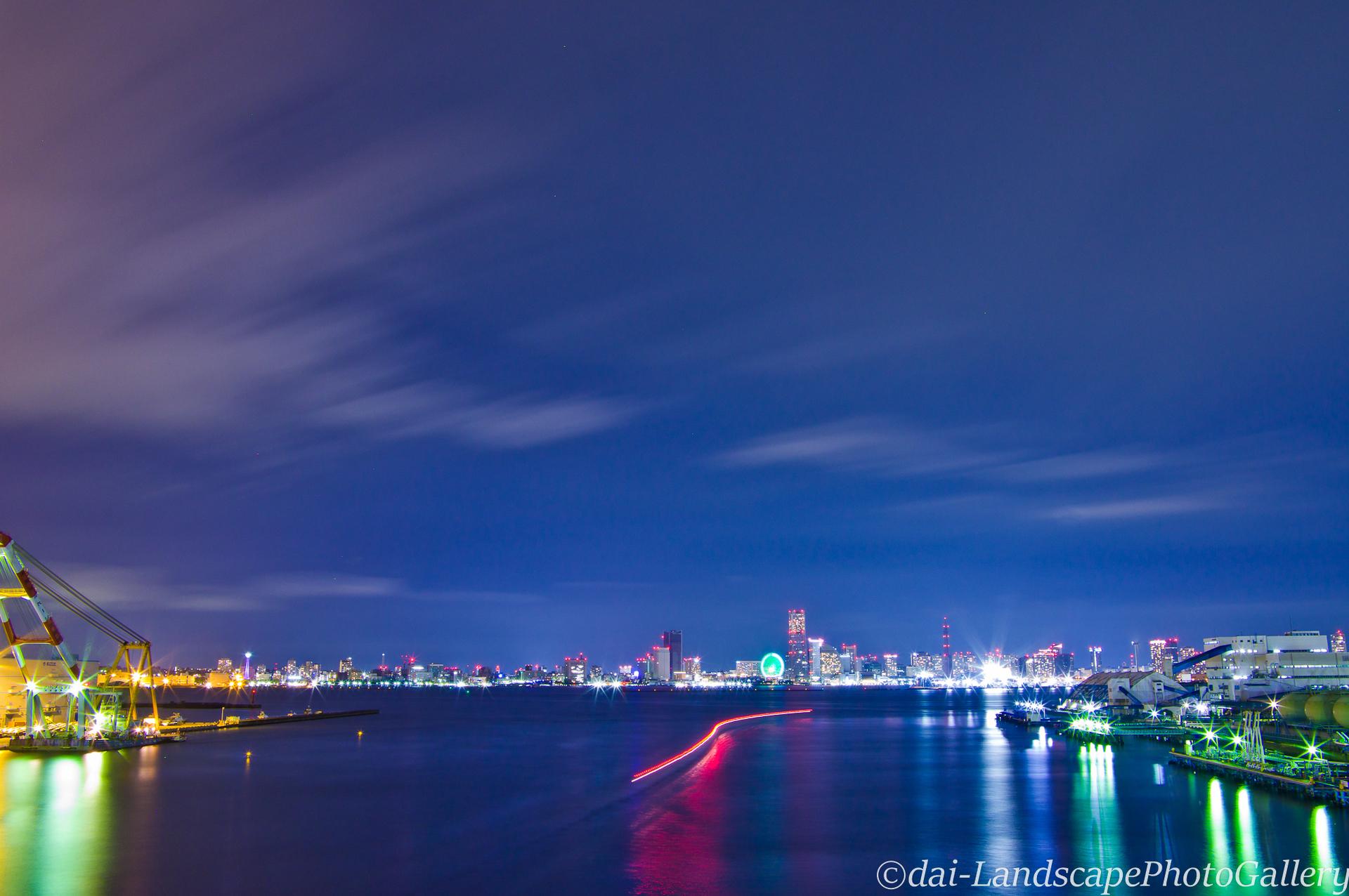 横浜大黒大橋夜景
