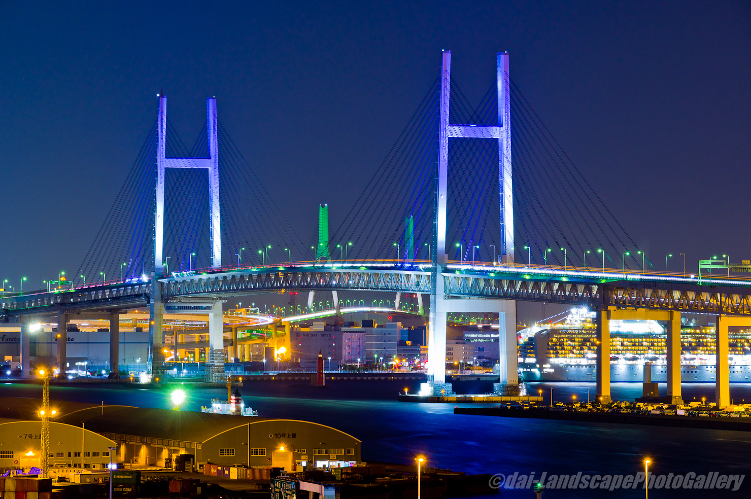 港の見える丘公園展望夜景