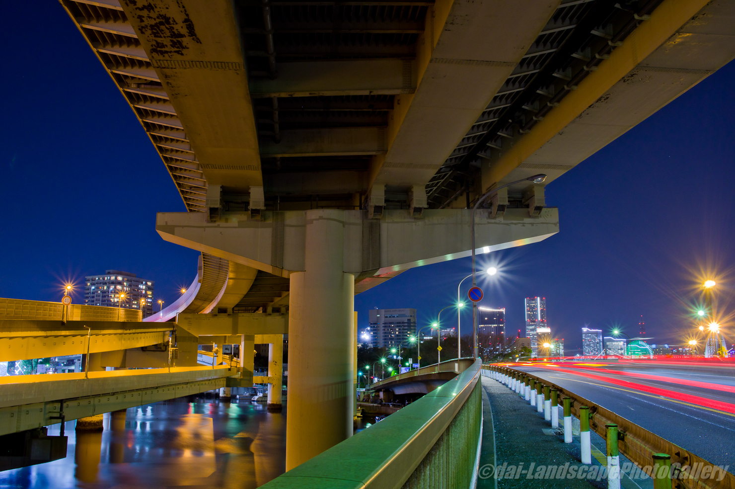 堀川河口夜景
