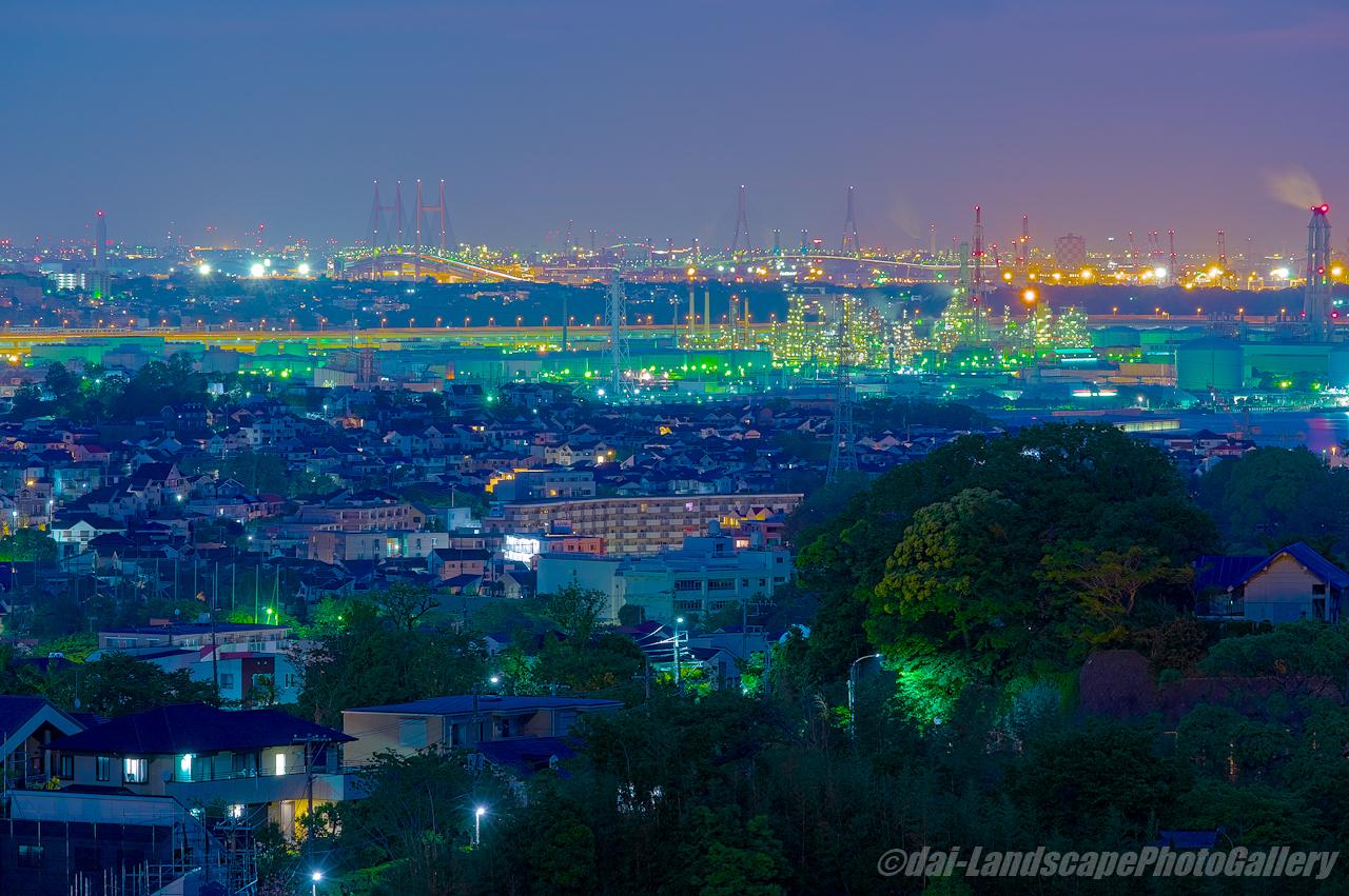 横浜磯子区夜景