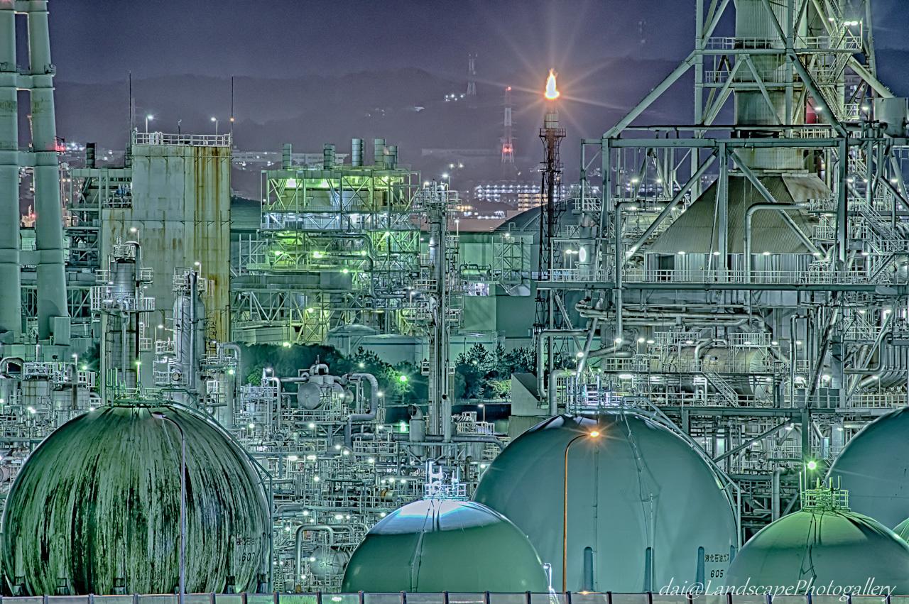 横浜磯子工場夜景【HDRi】