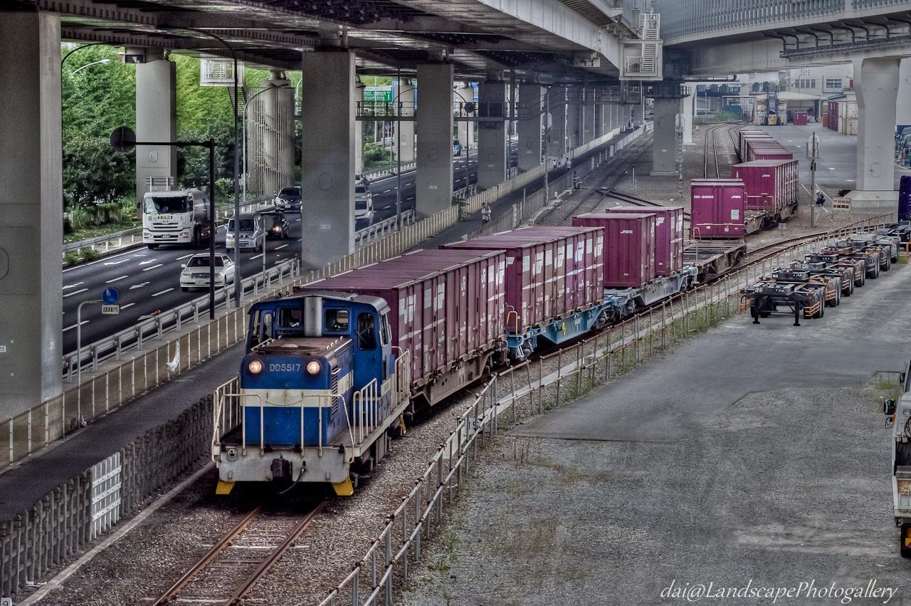 神奈川臨海鉄道コンテナ列車【HDRi】