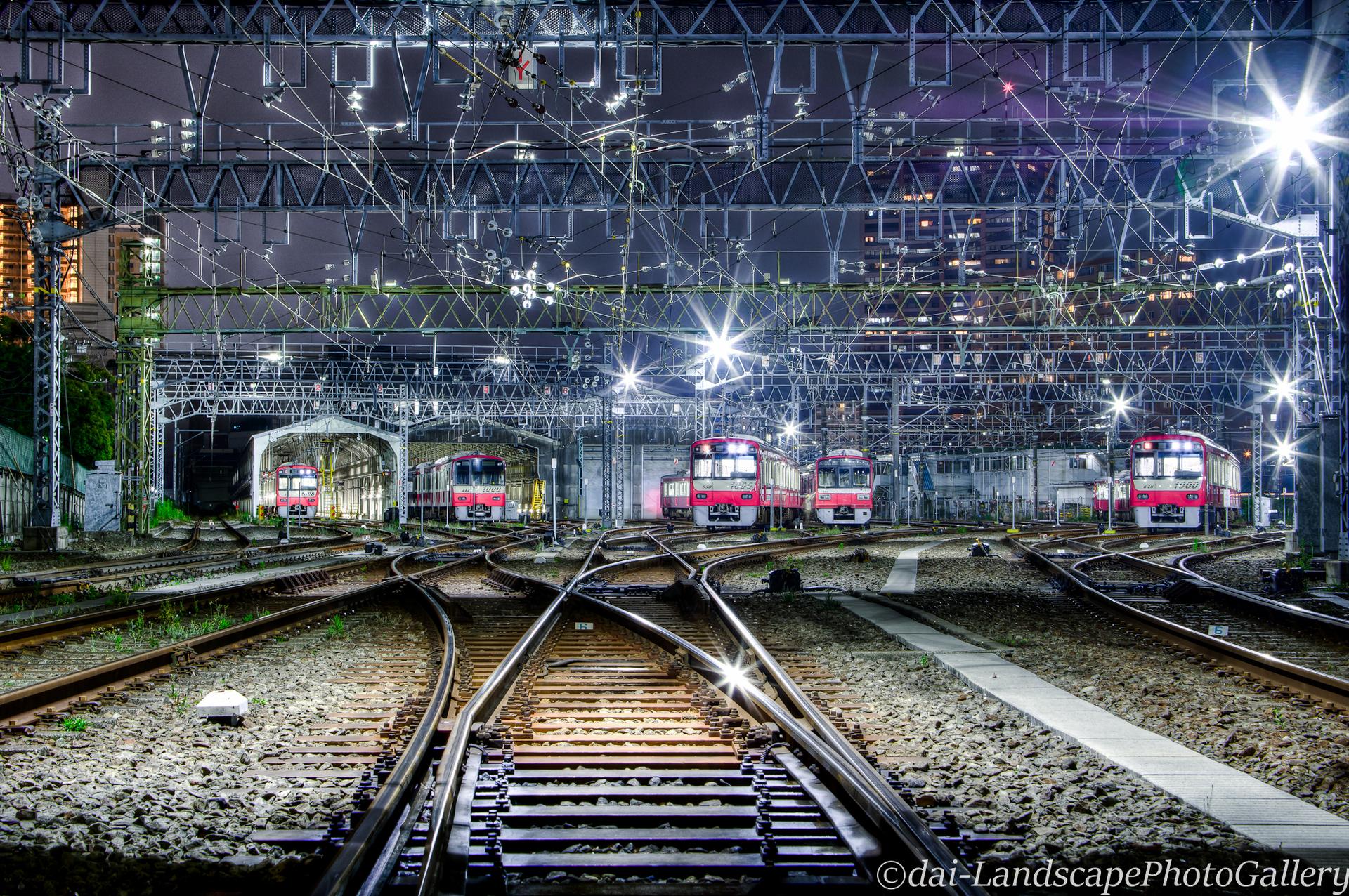 夜の新町検車区【HDRi】