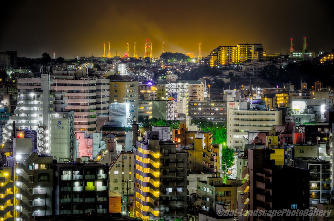 野毛山公園展望台夜景【HDRi】