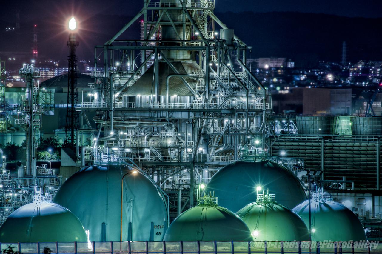 横浜工場夜景【HDRi】