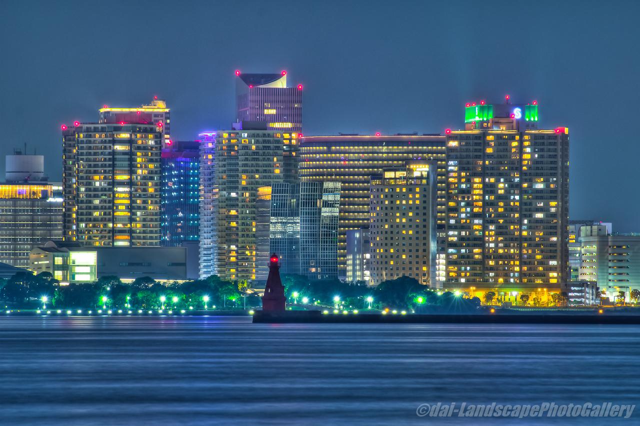 横浜北水提灯台夜景【HDRi】