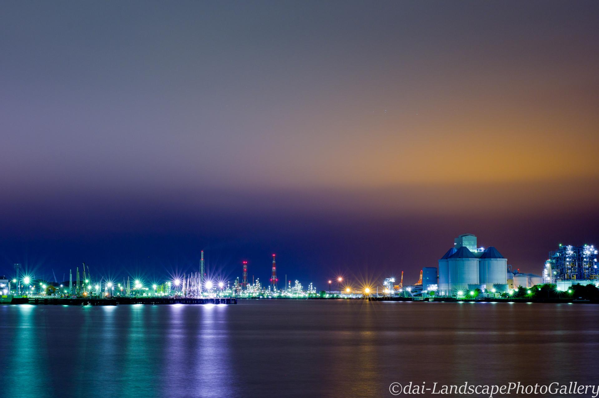 新磯子工場夜景