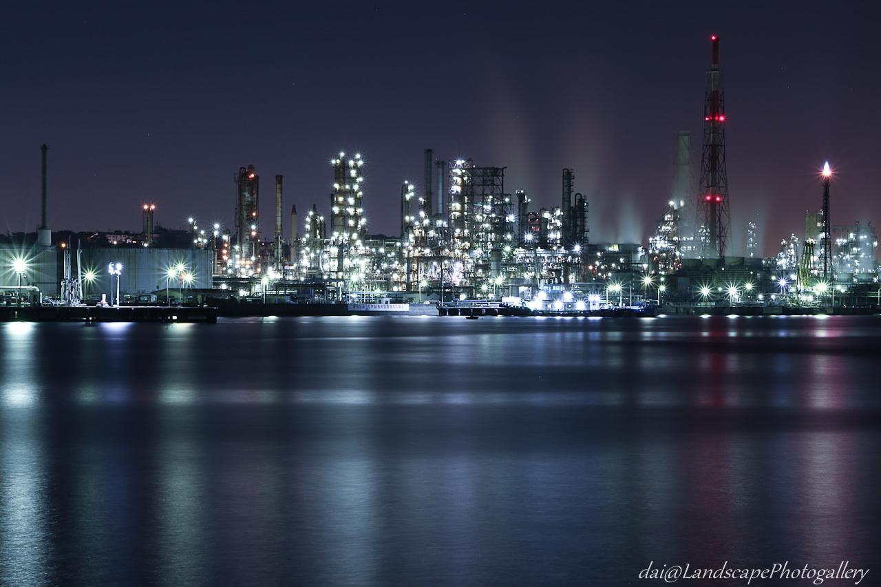横浜磯子工場夜景