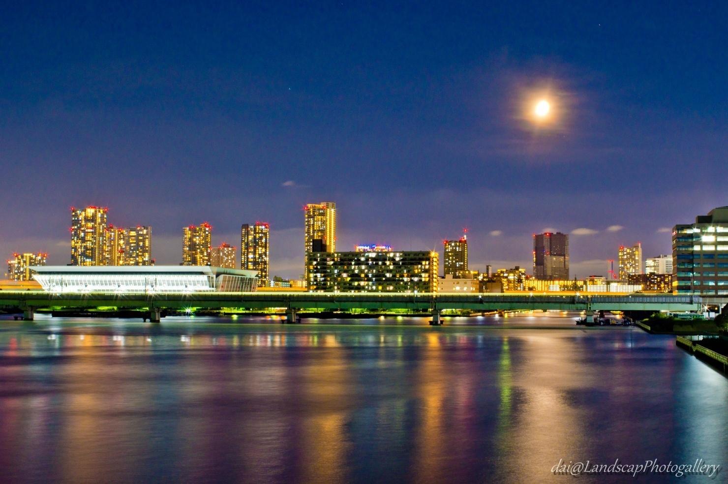 砂町運河夜景